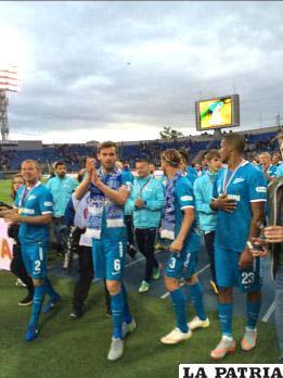 El festejo de los jugadores del Zenit /AS.COM