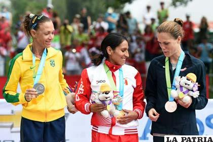 La peruana Gladys Tejada logró el oro en maratón /Adnina.com