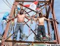 Crucifixión de potosinos en su región en apoyo a cívicos /APG