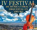 Todo listo para el IV Festival  de Música Coral y Orquestal