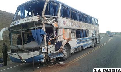 El bus siniestrado de