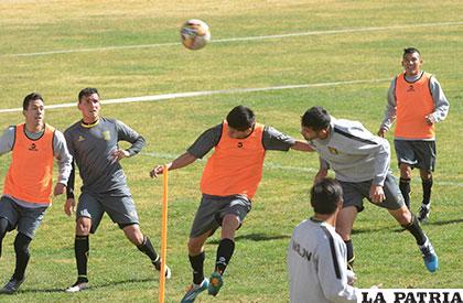 La última práctica del Tigre antes del clásico paceño /APG