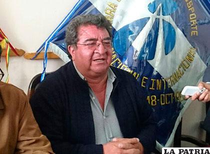 Fidel Baptista, presidente de la Cámara Boliviana de Transporte /blogspot.com