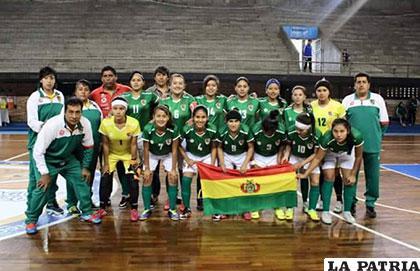 La selección boliviana en el Paraguay