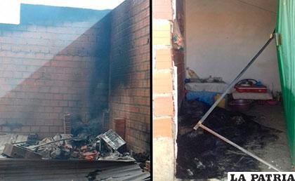 Producto de los enfrentamientos, varias viviendas sufrieron destrozos y quemas /ERBOL