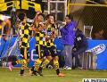 Jair Torrico celebra su gol junto a sus compañeros /APG