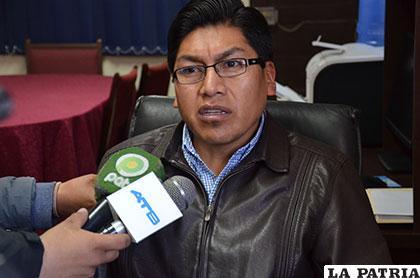 El entonces fiscal de Distrito, Franz Ochoa Yucra /Archivo