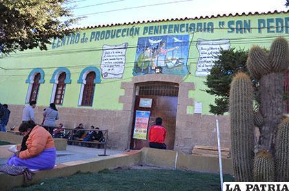 Ayer la penitenciaría de San Pedro, instantes después que el ex fiscal Ochoa fue internado en dicho centro