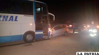 La colisión fue fuerte pero no dejó víctimas fatales
