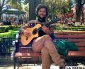 Juan Nazar en el centro de Oruro /Carlos Villegas