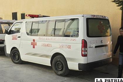 Una de las ambulancias del Hospital General San Juan de Dios