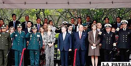 El presidente colombiano, Juan Manuel Santos, presente en el acto central conmemorativo /PRIMICIAS24.COM