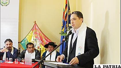Ministro de Justicia, Héctor Arce Zaconeta /ANF