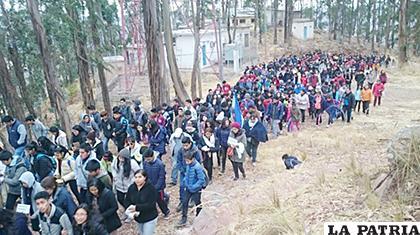 La movilización de los católicos en Sucre /ANF