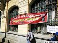 Los trabajadores de Avance de Obras llegaron hasta puertas de la Alcaldía