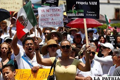 Miles de mexicanos salieron a las calles este domingo en protesta contra el Gobierno de López Obrador /eldiario.com.ec