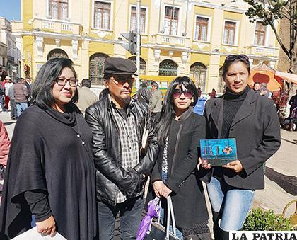 Organizadores del taller de Videoarte Etnográfico /LA PATRIA