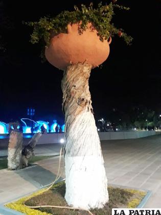 Una alternativa que dio la Alcaldía de Cochabamba para un árbol que ya murió