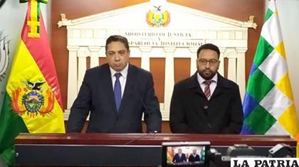 El ministro Héctor Arce y el viceministro Diego Jiménez /ANF