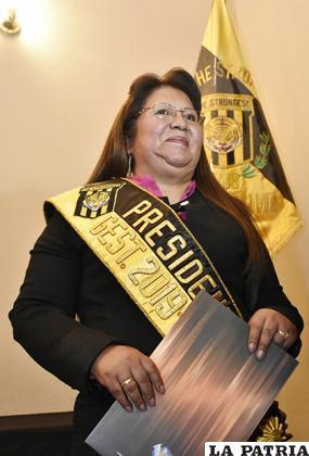 Inés Quispe, presidenta del Tigre /APG