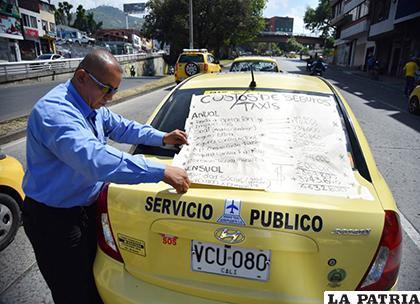 Taxistas protestarban por el aumento en los