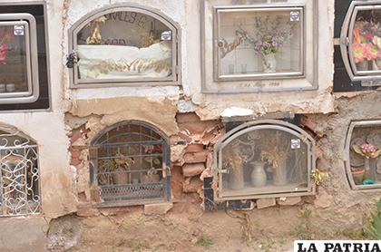 Desde hace algunos años los nichos están descuidados y en malas condiciones /LA PATRIA/ARCHIVO