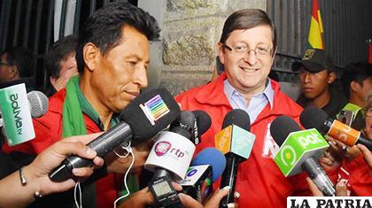Edwin Rodríguez junto a �?scar Ortiz  /Archivo /lostiempos.com