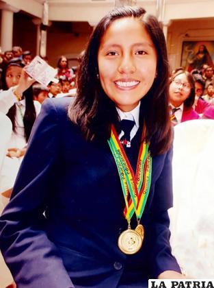 Alejandra Choque participó en varias Olimpiadas Científicas Plurinacionales /LA PATRIA