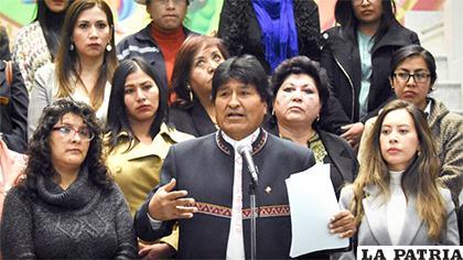 Morales informó sobre el plan en Casa del Pueblo /ABI