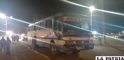 El bus solo presenta daños materiales leves /LA PATRIA