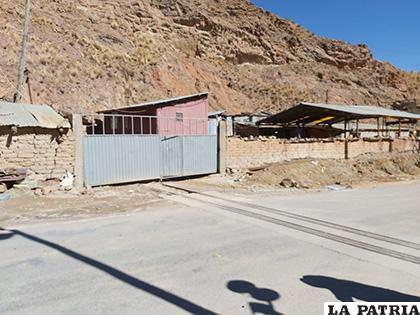 El lugar donde ocurrió el robo en Huanuni /LA PATRIA