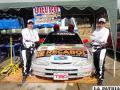 Berty Chambi y Teddy Peñafiel de buena labor en La Paz /cortesía AADO