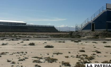 El complejo deportivo de la AFO está en estado de abandono /LA PATRIA