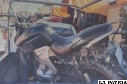 La motocicleta fue trasladada hasta dependencias de Tránsito /LA PATRIA