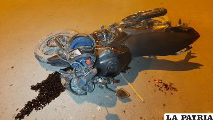Se evidenció deterioros en la motocicleta /LA PATRIA