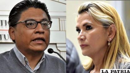 Ministro de Justicia, Iván Lima y la expresidente Jeanine Áñez /Archivo