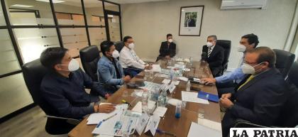 La reunión de los ejecutivos de la Empresa Portuaria Arica /EPA
