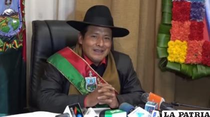 El gobernador de La Paz, Santos Quispe /ANF