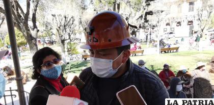 El ejecutivo de la COD Elías Colque pide que se priorice a Oruro /LA PATRIA ARCHIVO