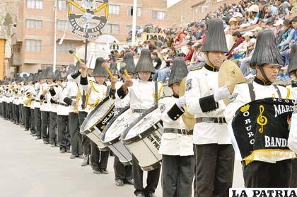 Banda de música del Colegio Mariscal Sucre