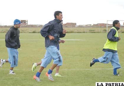 Jugadores de San José en el entrenamiento