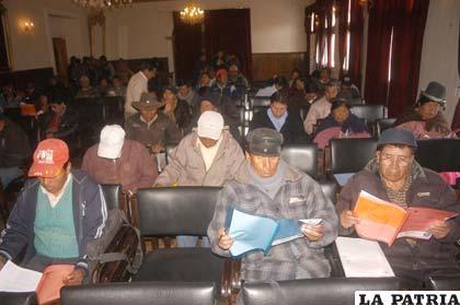Asistentes al Encuentro de Desarrollo Municipal