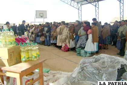 Caritas Alemania ofreció apoyo a las comunidades del Municipio de El Choro