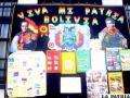 Historia de Bolivia y sus libertadores fue presentada por alumnos del Colegio Americano, en atractivos murales