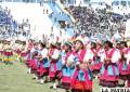 Integrantes del Liceo Antofagasta en el acto de inauguración