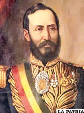 11. MANUEL ISIDORO BELZU HUMEREZ  Nació el 14 de abril de 1808 en La Paz y fue asesinado por Mariano Melgarejo el 23 de marzo de 1865 en la misma ciudad. Su mandato se originó a través de un golpe de Estado el 6 de diciembre de 1848 y concluyó al realizarse la trasmisión de mando el 15 de agosto de 1855. Desafió a la élites de la sociedad con acciones a favor de las mayorías; se modificaron los códigos Civil y Penal en cuanto a los vacíos que tenían; se establecieron los colores de la bandera (rojo, amarillo y verde) y se modificó el escudo sustituyendo el gorro frigio por el cóndor de los Andes, se dedicó a perseguir a los parientes de Ballivián por un problema personal que tuvo con él. Fue asesinado por Mariano Melgarejo en las gradas del Palacio.