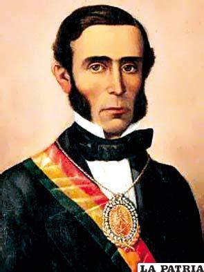 13. JOSÉ MARÍA LINARES LIZARAZU  Nació el 10 de julio de 1808, en Ticala, finca de Potosí, y murió el 23 de octubre de 1861 en Valparaíso, chile. Su mandato comenzó el 9 de septiembre de 1857 por un golpe de Estado y concluyó el 14 de enero de 1861 tras ser derrocado. Disminuyó el número de efectivos del Ejercito de 12.000 a 6.000 por representar mucho gasto para el Estado; creó la Ley de Municipalidades y dividió la República en 32 jefaturas políticas; redujo los gastos públicos disminuyendo su salario y del personal del Gobierno; en 1859 se publicó el primer mapa de Bolivia dibujado por Lucio Camacho; creó la Caja Central de Pagos promoviendo la centralización administrativa.