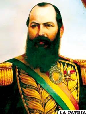 15. MARIANO MELGAREJO VALENCIA  Nació el 13 de abril de 1820, en Tarata, Cochabamba, y fue asesinado el 23 de noviembre de 1871 en Lima, Perú. Fue presidente tras dar un golpe de Estado a su antecesor el 28 de diciembre de 1864 y concluyó su mandato al ser derrocado el 15 de enero de 1871. Su gobierno fue el más funesto para el país por sus disposiciones arbitrarias como entregar de forma gratuita territorio boliviano a Chile y Brasil, desconociendo la magnitud de sus decisiones; abrogó la Constitución, disolvió el Consejo de Estado y suprimió las municipalidades; declaró soberanía compartida entre Bolivia y Chile sobre los paralelos 23 y 25 donde se hallaban las guaneras de Mejillones, lo que provocó la invasión chilena.