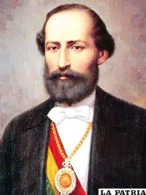 18. ADOLFO BALLIVIÁN COLL Nació en La Paz el 15 de noviembre de 1831 y falleció el 14 de febrero de 1874, en Nucho, Chuquisaca.  Estuvo en el poder a partir del 9 de mayo de 1873 al 31 de enero de 1874, tras ser electo constitucionalmente hasta ser derrocado. En su gobierno se impulsó la educación declarando gratuita la primaria; trató de arreglar la hacienda pública por medio de un préstamo de 20 millones de libras, pero la asamblea extraordinaria no le autorizó; acordó con el Perú una alianza defensiva contra Chile por la evidente ocupación chilena en ambos países; la Compañía de Salitres de Antofagasta hizo en ese tiempo una transacción con el Gobierno y quedaba exenta de todo impuesto por espacio de 15 años.