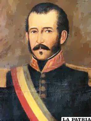 5. PEDRO BLANCO SOTO  Nació en Cochabamba el 19 de octubre de 1795 y fue asesinado en Sucre, el 1 de enero de 1829. Fue elegido provisionalmente el 26 de diciembre de 1828 por la Asamblea General, hasta que fue derrocado cinco días después el 1 de enero de 1829. Su muerte lo puso en el primer plano de los acontecimientos suscitados por los intereses anexionistas de parte del general peruano Gamarra. Santa Cruz, quien tenía la misma idea, supo esperar y tuvo mayor tacto político que el general cusqueño para lograr un proceso real de integración entre Bolivia y Perú. Entre los muchos hombres que pensaban como ellos estaba Pedro Blanco que en su momento fue un oscuro militar manejado por los peruanos.